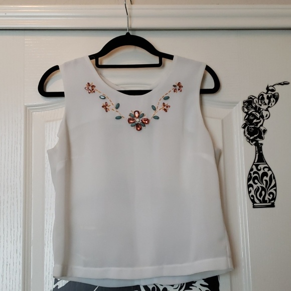 Forever 21 Tops - White dress blouse